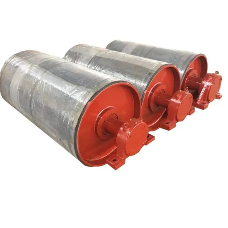 Pulleys are used on conveyors to support and deflect the belting through the conveyor structure. Pulleys also provide a mechanism whereby the conveyor belt can be trained to run (track) true along the conveyor idlers.