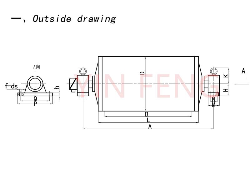 YZ Type Oil-cooled/Oil-steeped Motorized Pulleys(Motorized Drum)